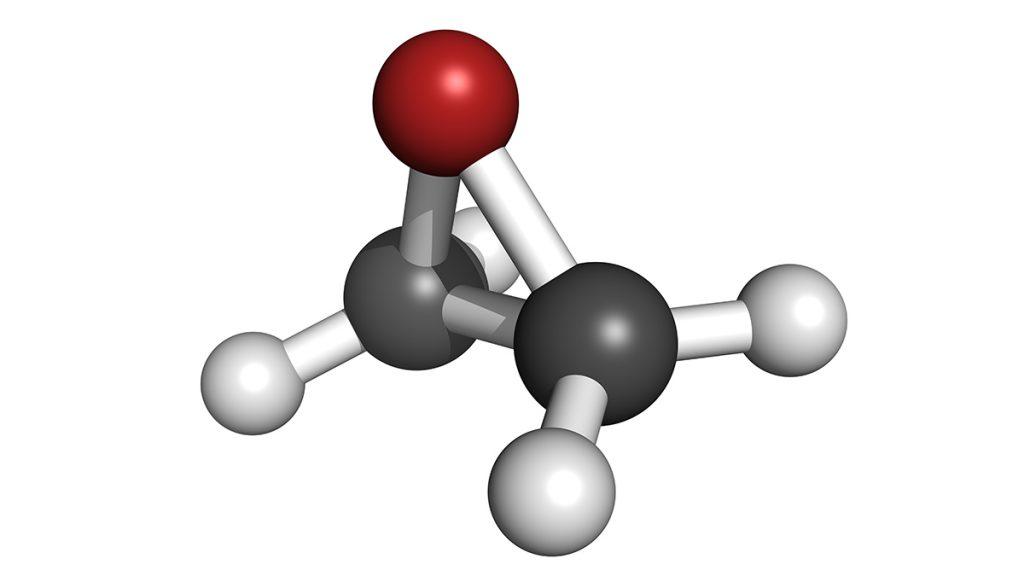 Ethylene oxide (EO), molecule